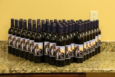 Wine Bottle Wedding Favors - You Make with Custom Labels