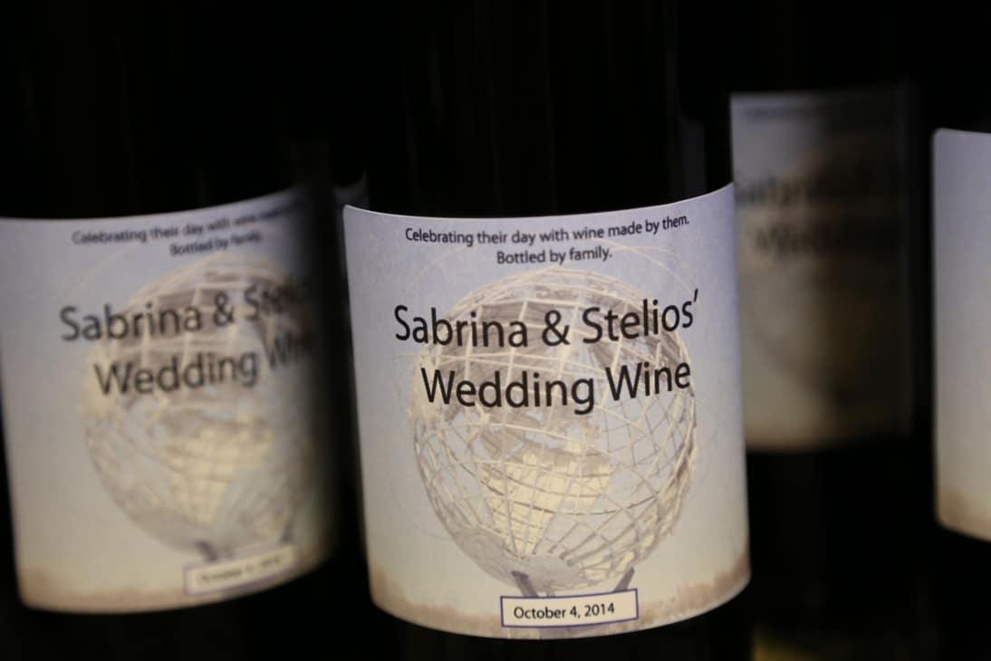 wine bottle wedding favor custom label