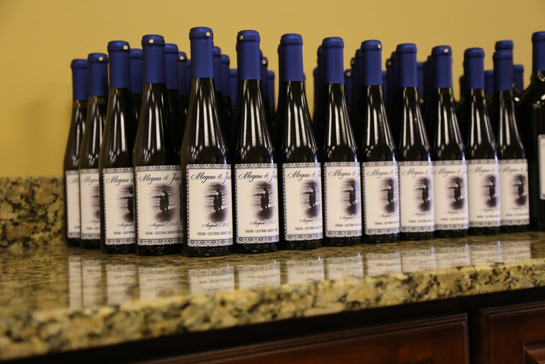 Wine Bottle Wedding Favors your make incl Custom Label for just 6